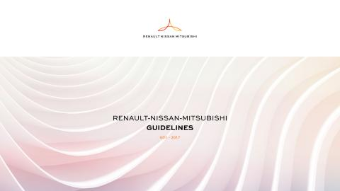 Renault-Nissan-Mitsubishi Alliance - Logo and Visual Assets Summary Guidelines