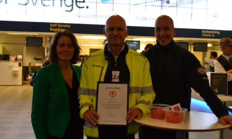 Bromma Stockholm Airport blir Hjärtsäker zon