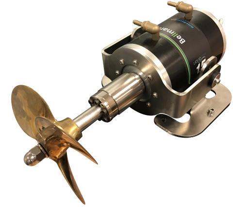 Bellmarine liquid-cooled shaft-drive motor