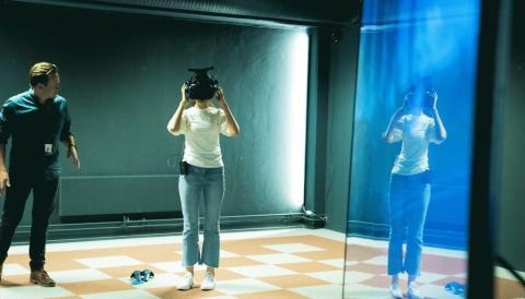 Koreansk selskap kom til Tønsberg for å se på VR-løsninger