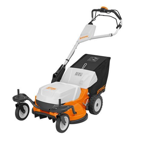 STIHL RMA 765V ruohonleikkuria voi käytttää sekä STIHL AR- että AP-akuilla