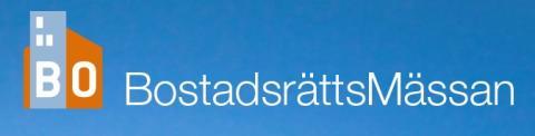 Besök oss på BostadsrättsMässan i Stockholm 17-18 november