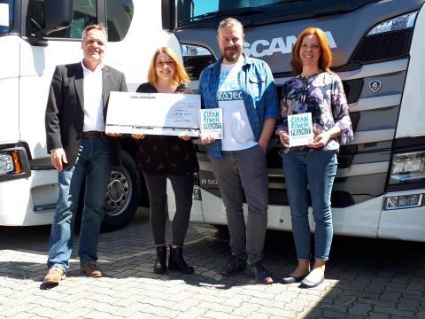 Scania spendet 1.000 Euro für Winninger Clean River Project