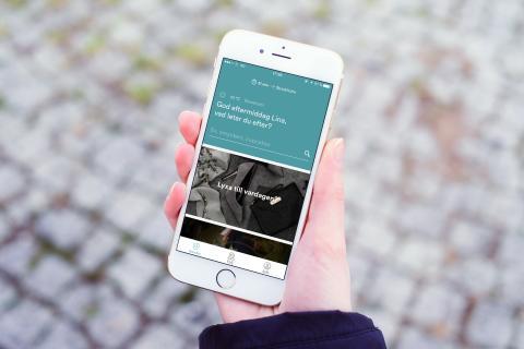 Bild av den nya Urb-it-appen