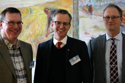 Erik Bergkvist, Mikael Damberg, Mikael Lindfors