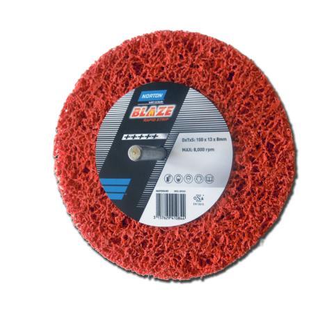 Rengøringsrondel monteret på spindel til effektiv rengøring. Produkt