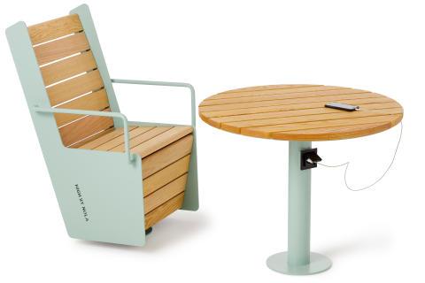 High table and chair, design Mats Aldén