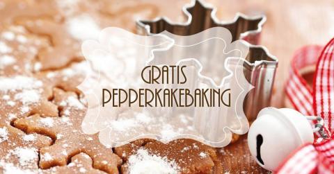 Bli med på gratis pepperkakebaking på Deiglig Fyrhuset 7. desember!