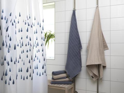 Shower curtain Flow, Terry towel Novalie Stripe