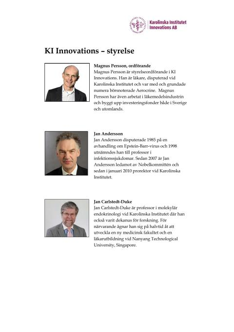 KI Innovations AB – styrelse