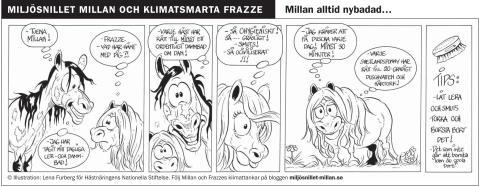 Milan alltid nybadad - en klimatsmart seriestripp del 7
