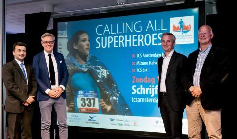 Tata Consultancy Services en Le Champion presenteren  nieuwe merkidentiteit TCS Amsterdam Marathon