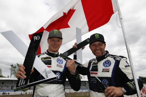 Johan Kristoffersson tog sin tredje seger i rad och med Petter Solberg på andra plats tog teamet sin andra dubbelseger.