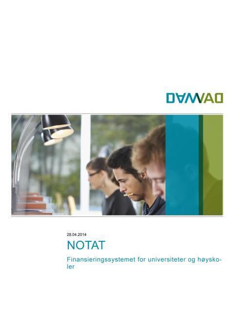 Finansieringssystemet for universiteter og høyskoler