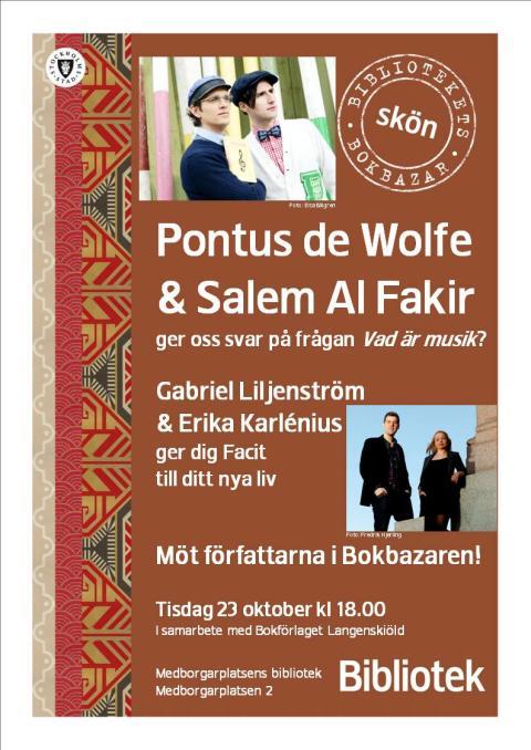 Musik- och kunskapsafton på Medborgarplatsens Bokbazar Tisdag 23 oktober