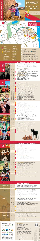 Programm zum Erntedankfest in Torgau