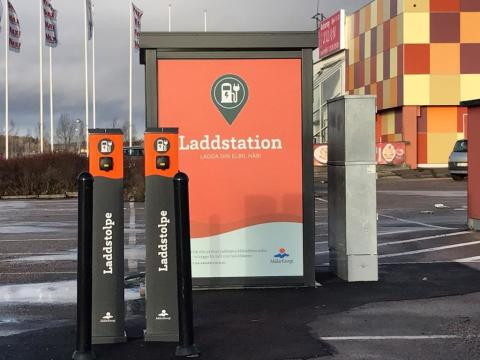 Mälarenergi inviger laddstationer under Elens dag den 23 januari 2018.