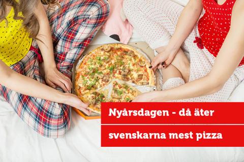 Blekingeborna äter helst Hawaii och Vesuvio på årets mest intensiva pizzadag