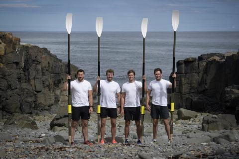 The Four Oarsmen win the Atlantic Challenge