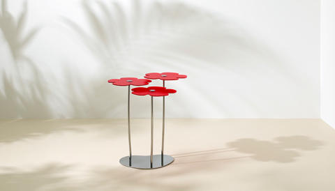Bouquet table designed by Claesson Koivsto Rune is based on the simple idea of cheering people up