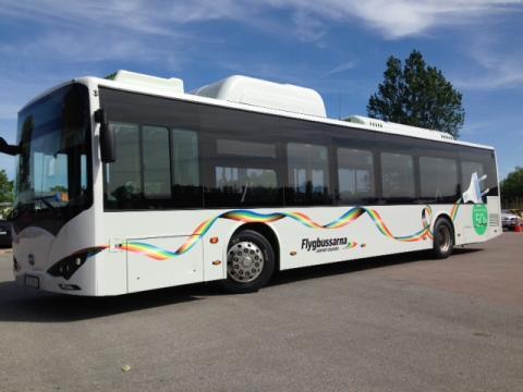 Startskottet för elbussar på Flygbussarna