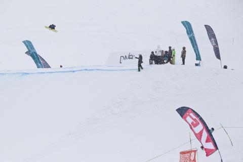Bigjump oversiktbilde_NM_Stryn 2013. Foto: Snowboardforbundet