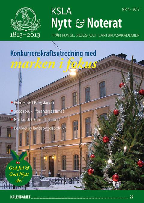 Nytt nummer av KSLA Nytt & Noterat