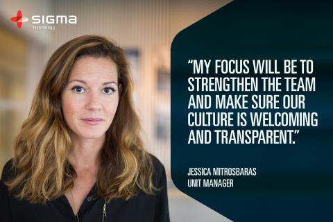 Jessica Mitrosbaras Becomes a New Unit Manager at Sigma Technology