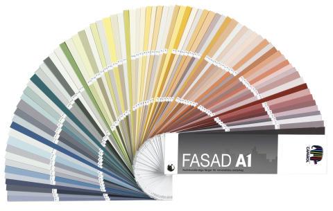 FASAD A1 - färgkarta för putsfasader