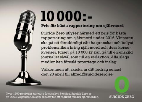 Pris för bästa rapportering om självmord