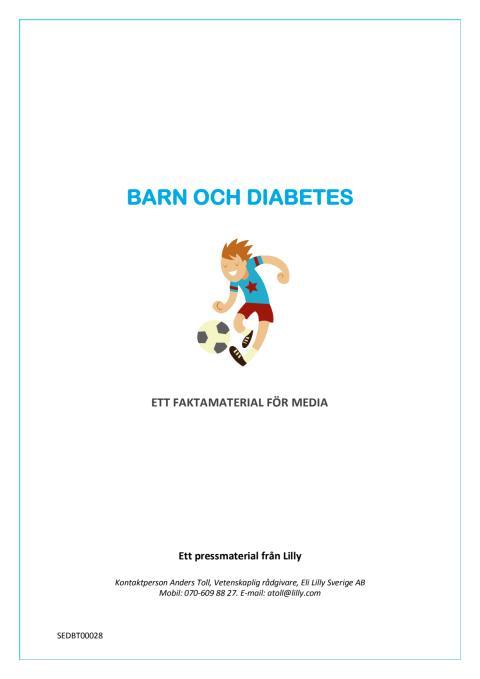 Faktamaterial - barn och diabetes