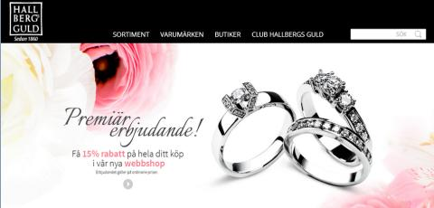 """Mobile first"" för Hallbergs Guld"