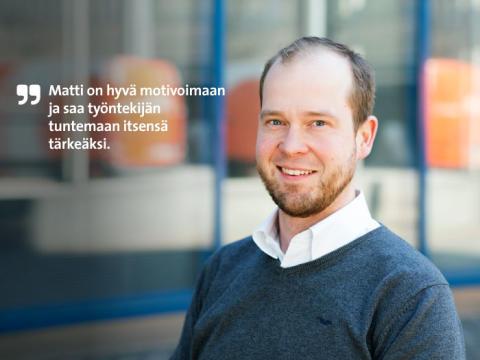 Etera palkitsi Etelä-Suomen parhaana pomona Enkom Activen Matti Hätösen