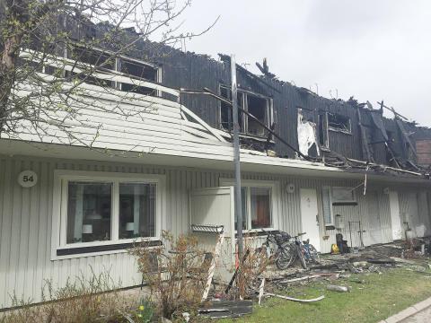 HSB löser boende efter branden på brf Lillsjön i Östersund