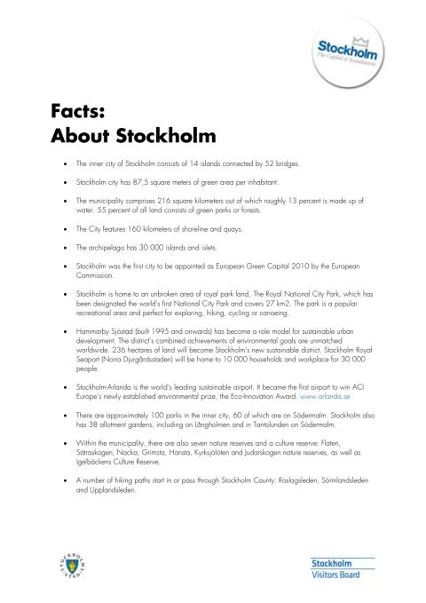 Facts: About Stockholm