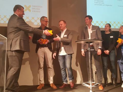 Prisutdelning Swedish Brand Award 2016