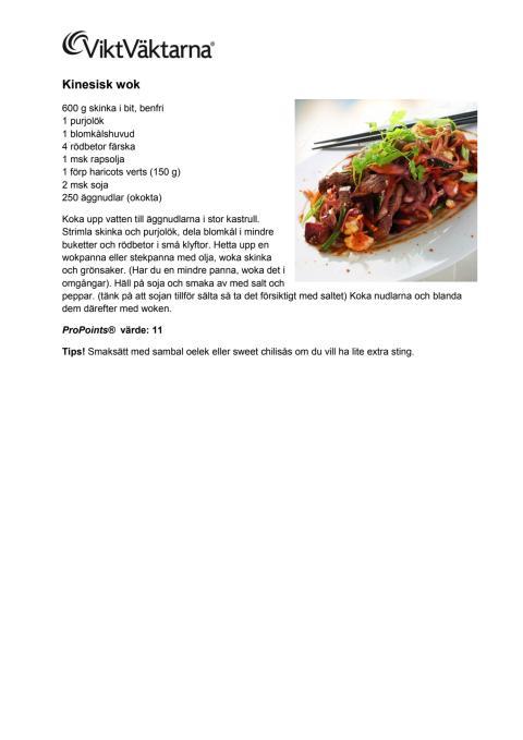 Recept kinesisk wok