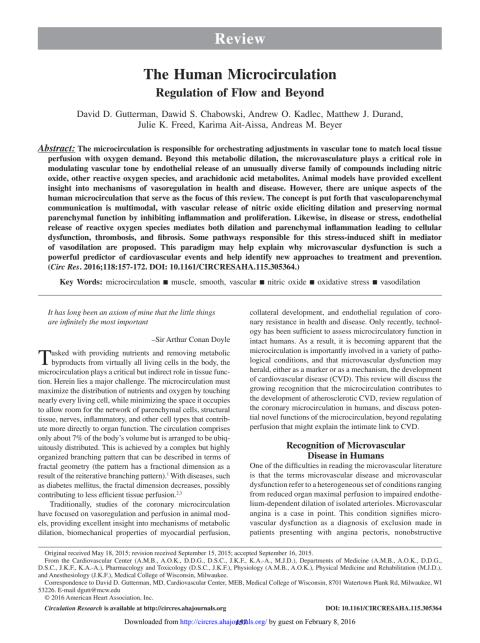 Gutterman et al 2016 Review