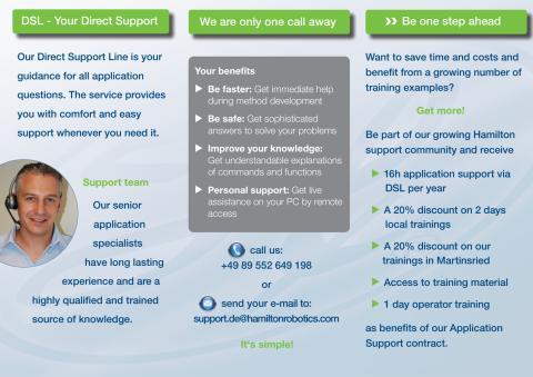 Angebote Applikationssupport