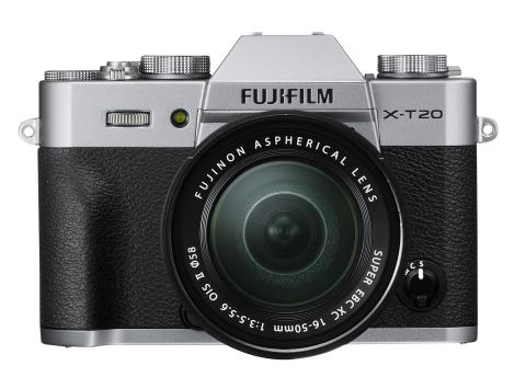 X-T20 Silver front with XC16-50mm