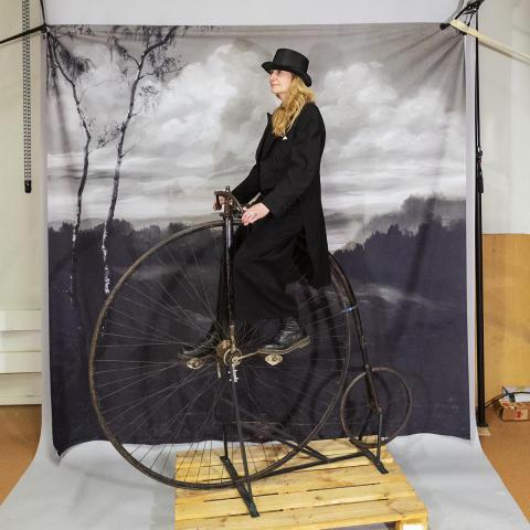 Provsitt en höghjuling på Tekniska museet – vågar du släppa styret för en selfie?