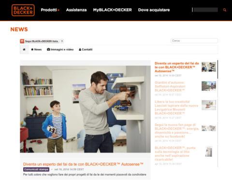 BLACK+DECKER™ launches 16 digital brand newsrooms worldwide