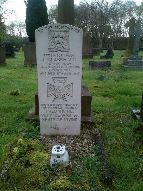 RESPECT: Sergeant James Clarke's private family grave has a Commonwealth War Graves Commission-type headstone