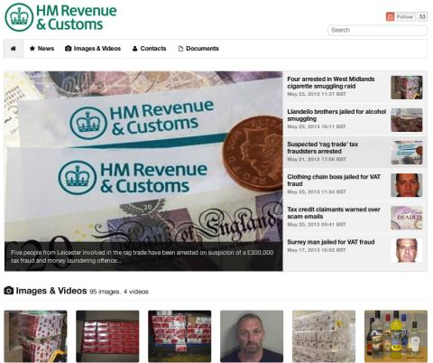 HMRC's Mynewsdesk newsroom
