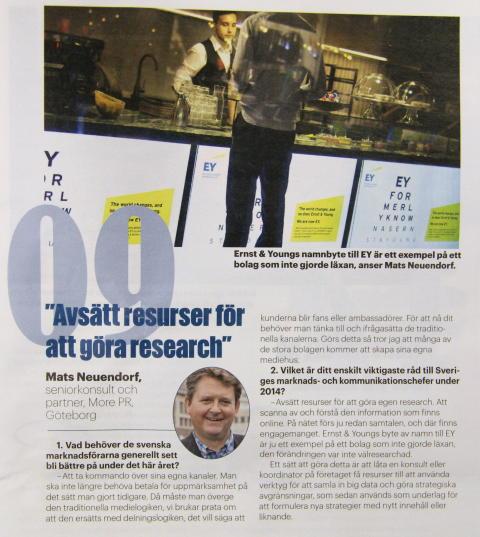 Mats Neuendorf i Dagens Media