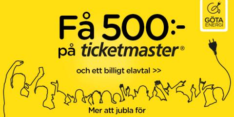 Göta Energi och Ticketmaster ger kunderna mer att jubla för