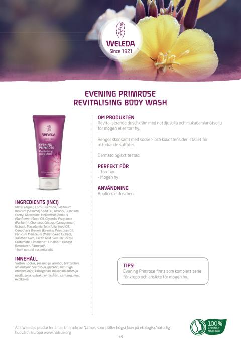 Evening Primrose Revitalising Body Wash