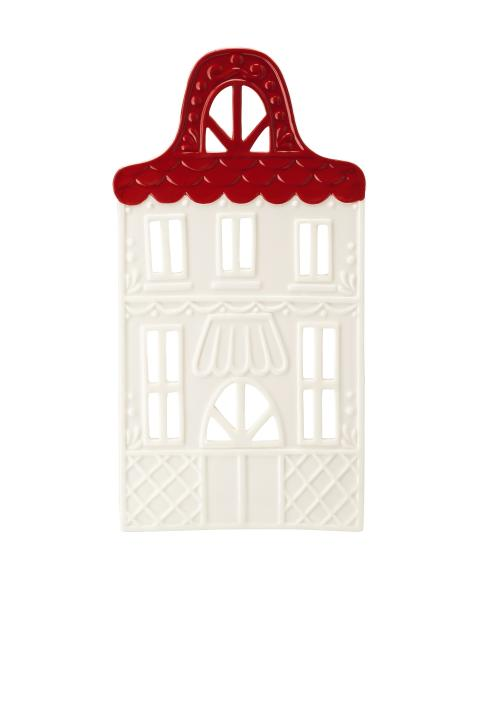 HR_Little_Christmastown_Front 7 white-red_Tea light house