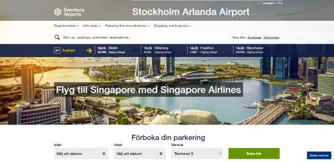 Swedavias webb och appar med ny design och funktion