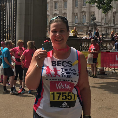From baker to marathon runner: Becs takes on 26.2 miles to raise money to keep families together